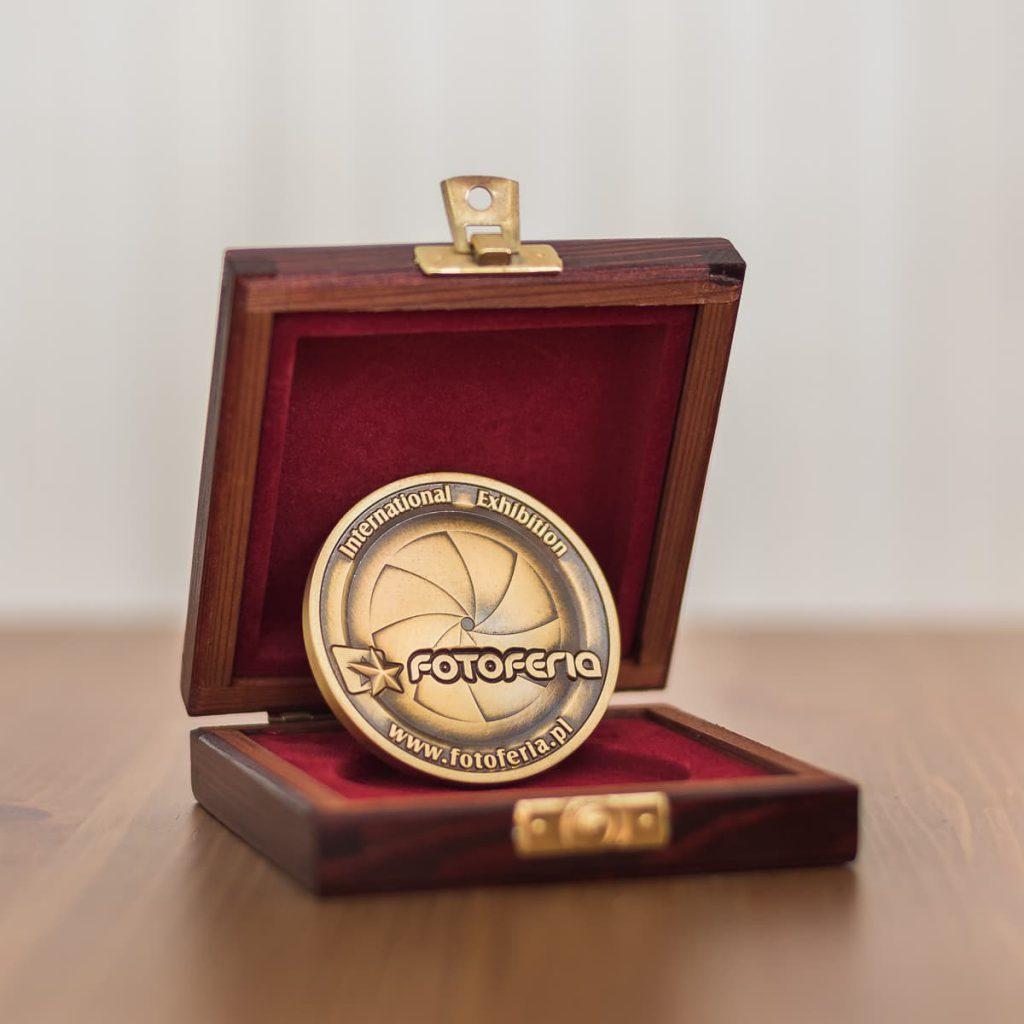 Medal zdobyty w konkursie Fotoferia International Exhibition 2014