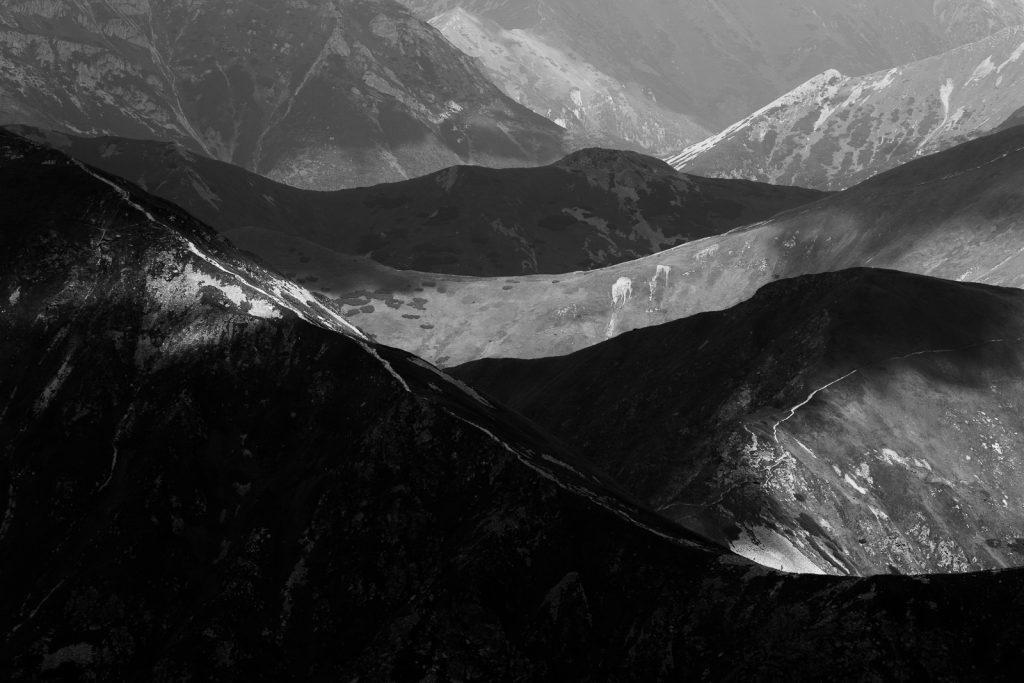 Tatry w czerni i bieli - fotografia wykonana Tamronem 70-200 G2