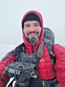 zimowe fotografowanie, strój fotografa krajobrazu