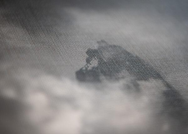 black and white photo print presenting Nameless Tower