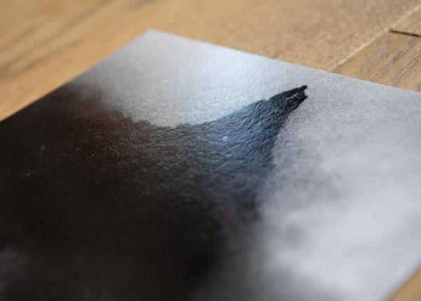 Detal - struktura papieru Hahnemuhle Fine Art Baryta