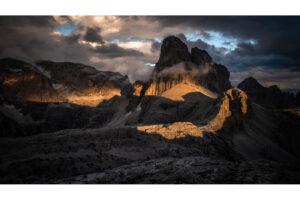 Zdjęcie Croda dei Toni o zachodzie słońca