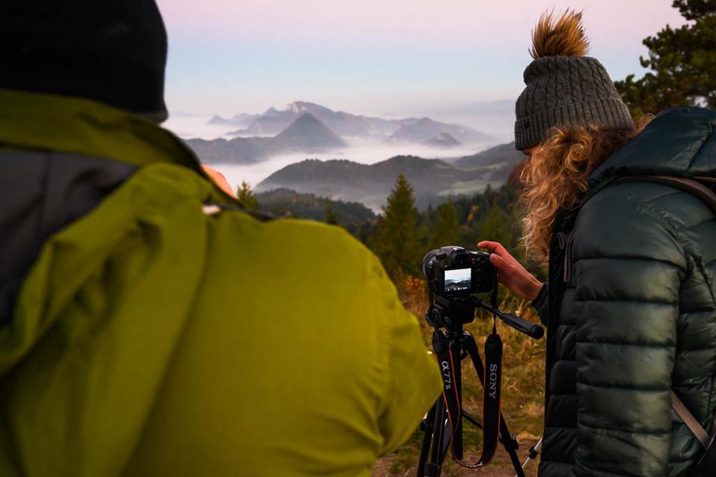 Adepci fotografii krajobrazu na warsztatach w Pieninach